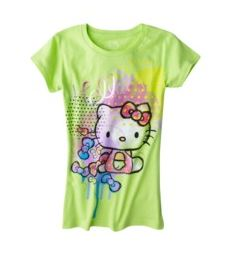 Electric Lime Hello Kitty t-shirt Target