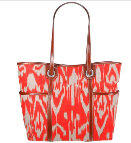 Ikat Tote Bag Red