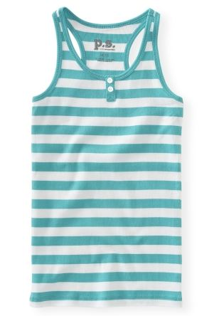 PS Aeropostale Striped Henley Tank