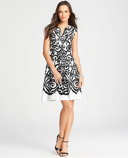 Ikat Print Trend Dress Ann Taylor