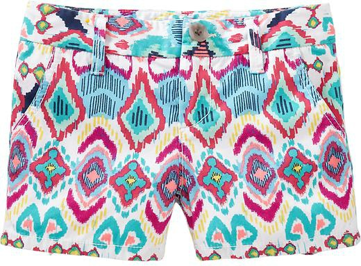 Ikat Print Trend Shorts Old Navy Girls