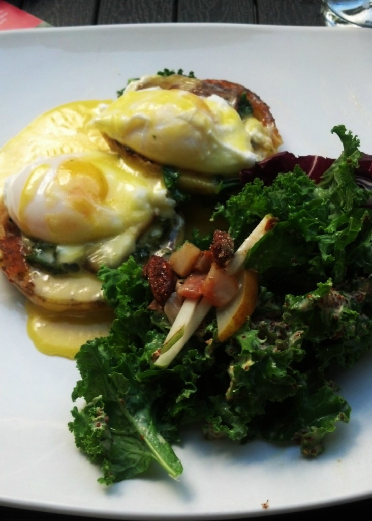Eggs Benedict with Kale
