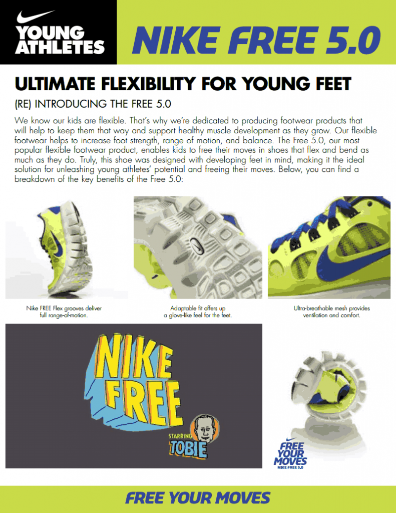 Nike Free Your Moves Fact Sheet