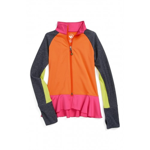 Be Strong Ruffle Jacket Limeapple Active Girl Apparel