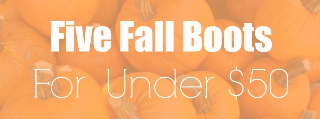 Fall Boots For Under $50