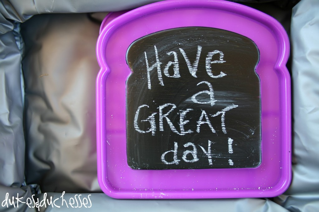 Lunch box container chalkboard paint idea