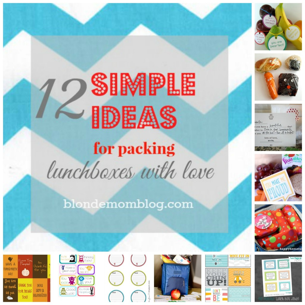Simple ideas for packing lunch love notes school