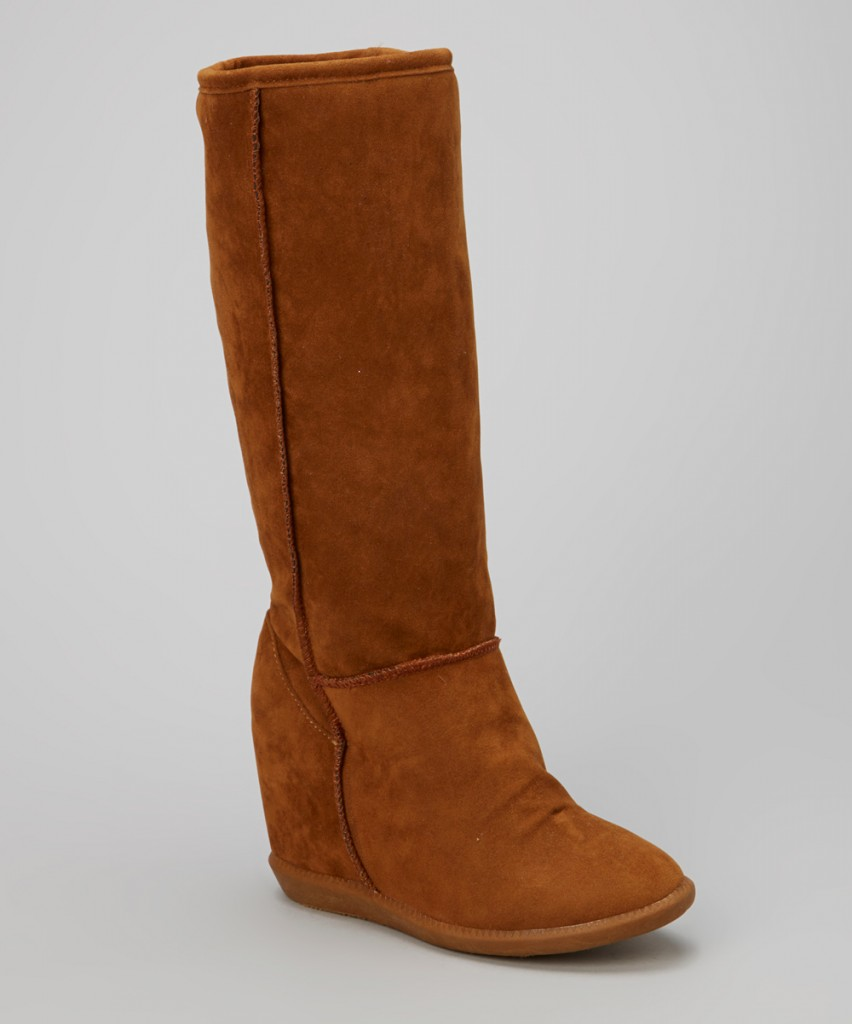 Brown Wedge Boot Zulily