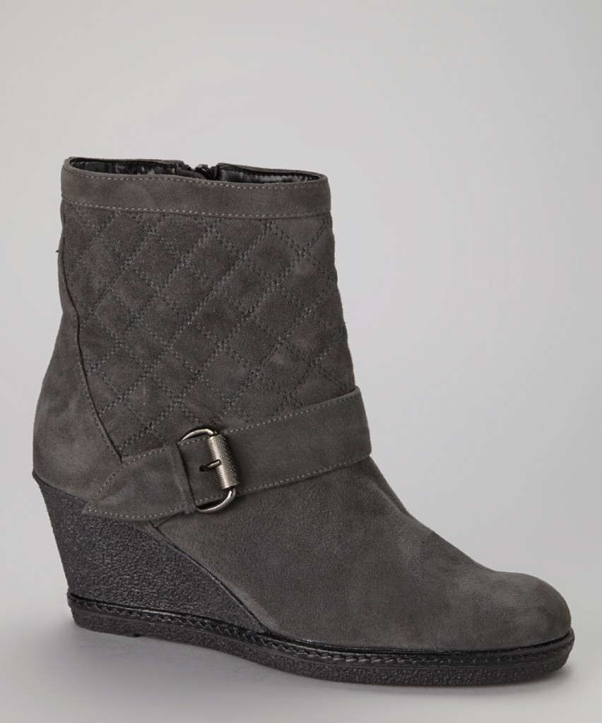 gray wedge boot zulily