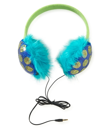polka dot earmuff headphones
