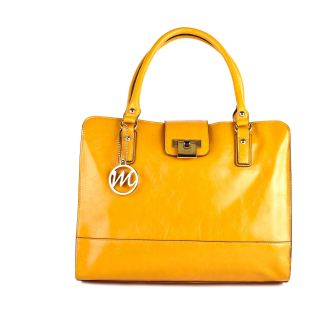 Yellow Briefcase Tote
