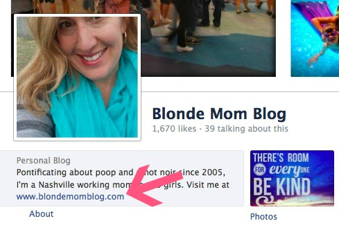 Blonde Mom Blog About FB