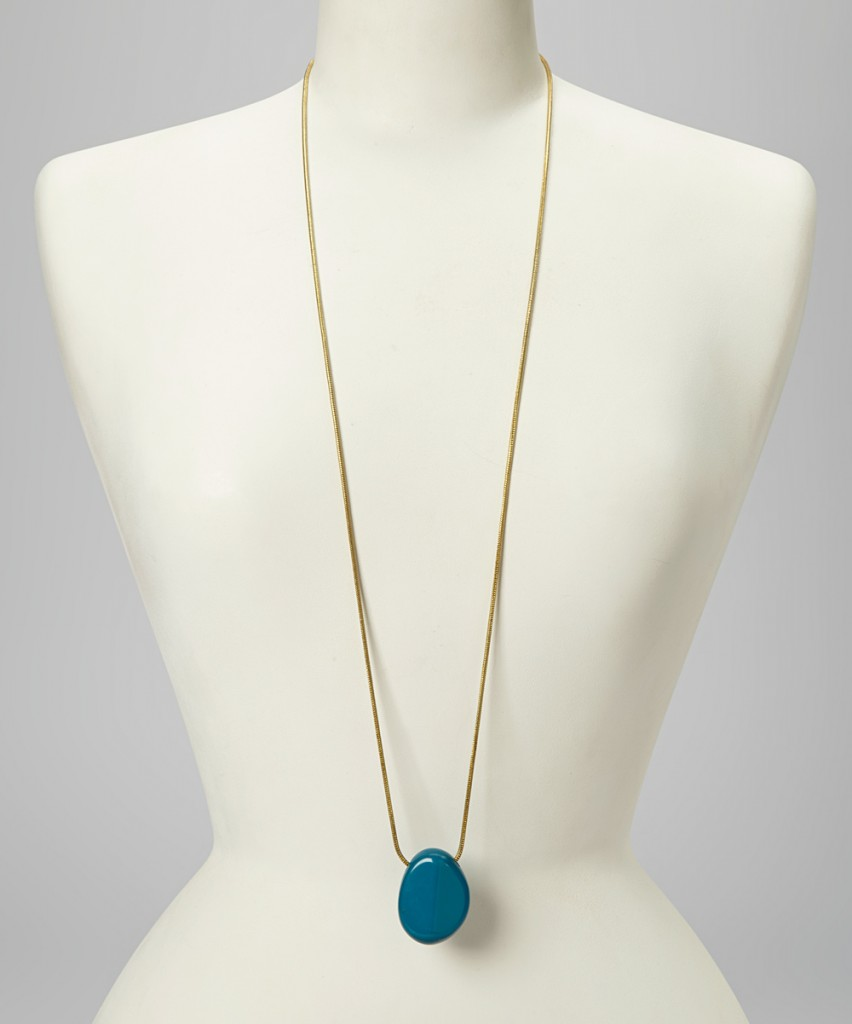 Gold Teal Necklace