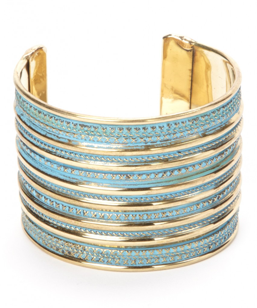 Gold and Blue Cuff