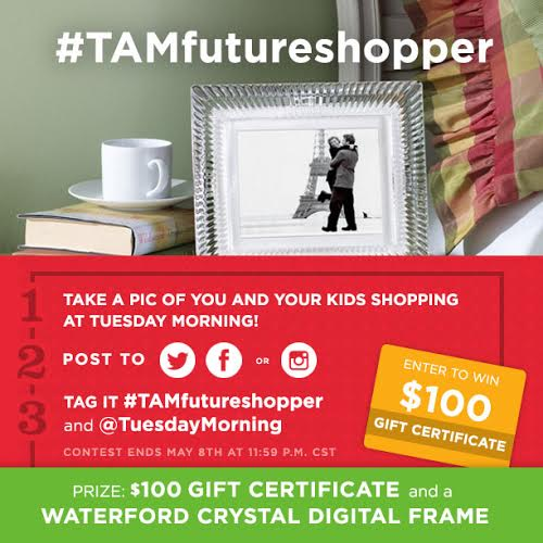 Take Your Kids Tuesday Morning Shopping Contest