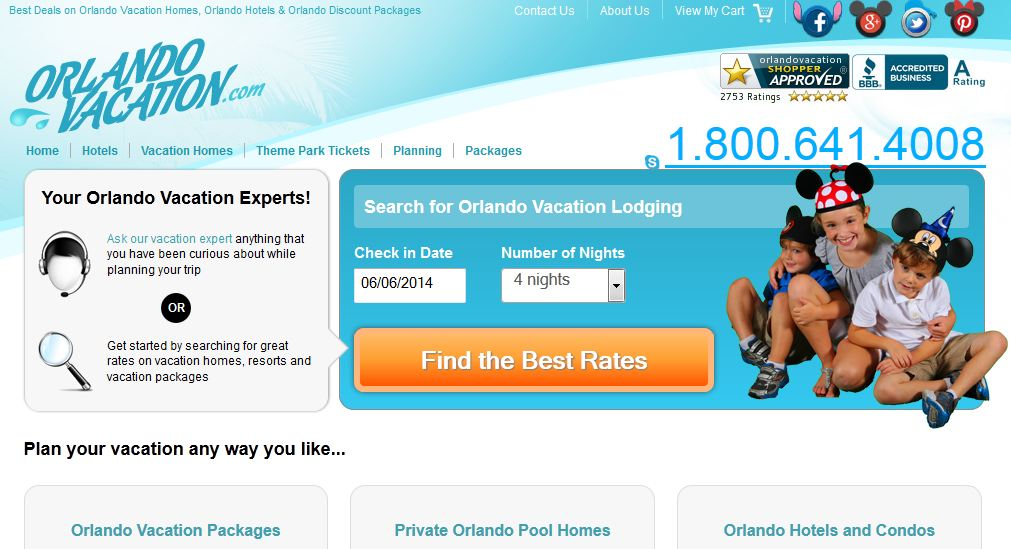 Orlando Vacation Website Review