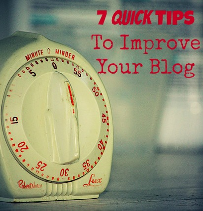 Great list of 7 Quick Social Media Tips to improve your blog