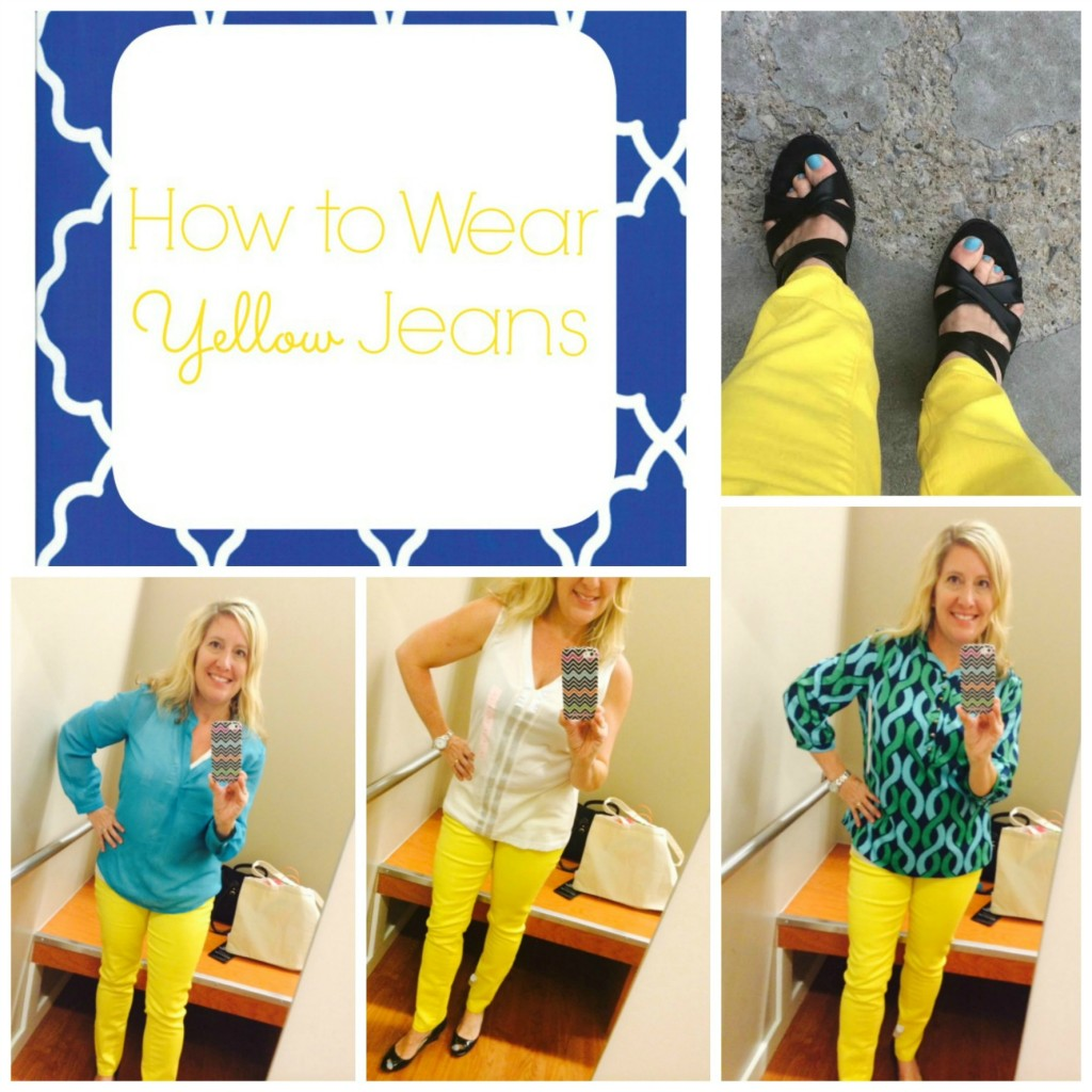 how to wear yellow jeans ideas