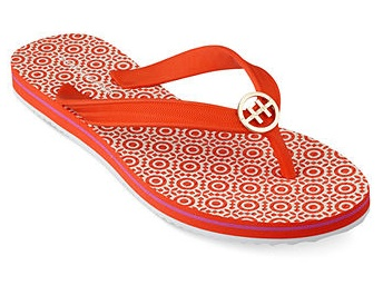 Hilfiger flip flops in orange