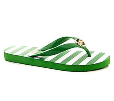 Michael Kors kelly green flip flops
