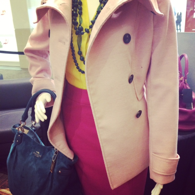 Pink Coat Outfit Fall
