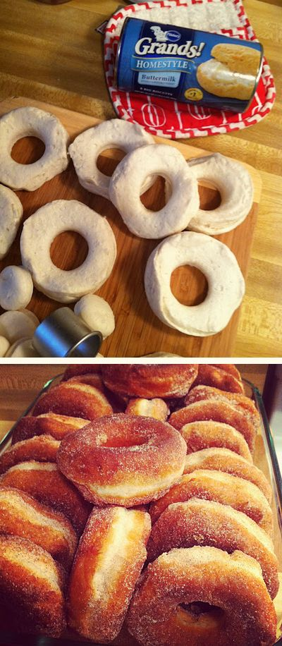 Easy Cinnamon Sugar Donuts