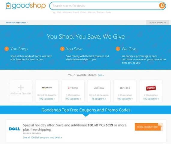 goodshop website