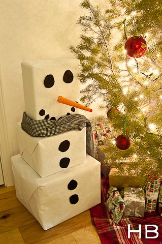 Snowman gift package idea