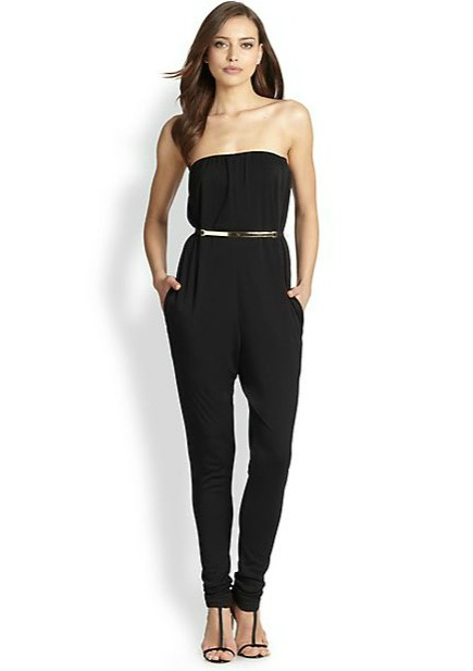 halston heritage jumpsuit 10 Black Jumpsuits To Take You From Conference Call to Cocktail Hour