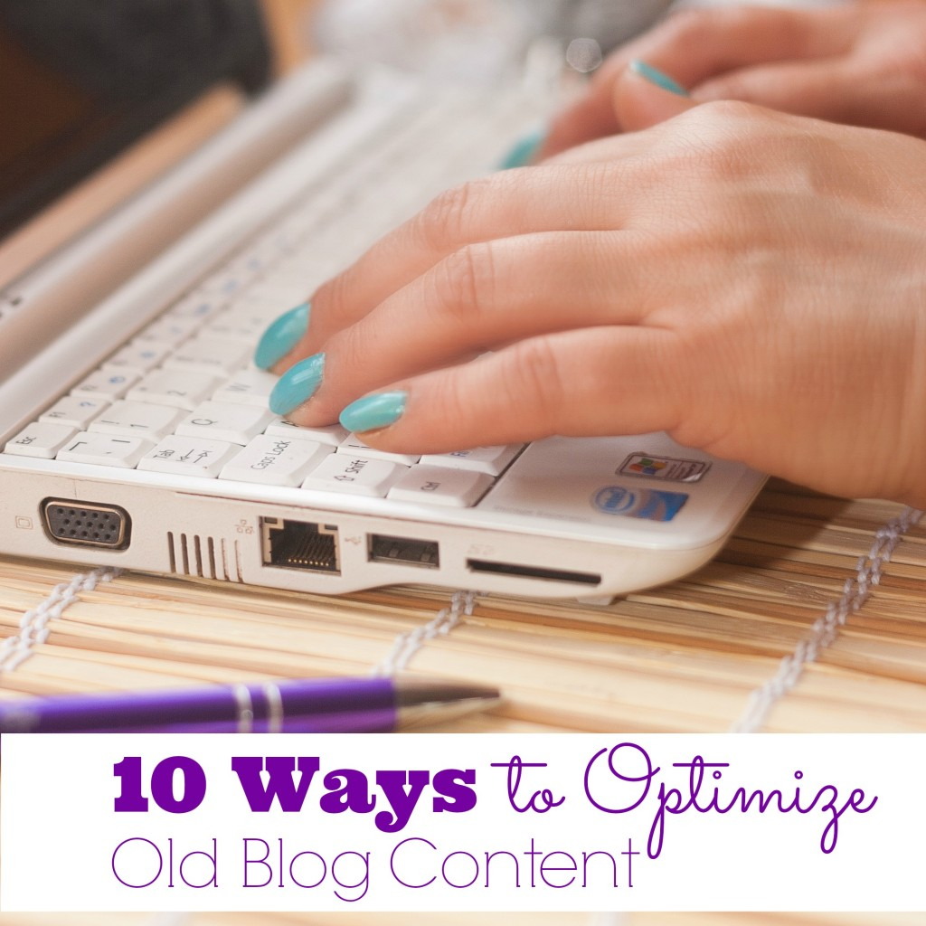 optimize old blog content