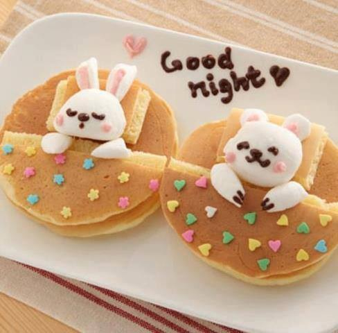 bedtime Easter bunny pancakes