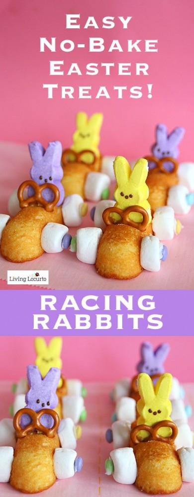 racing rabbits Easter bunny treats