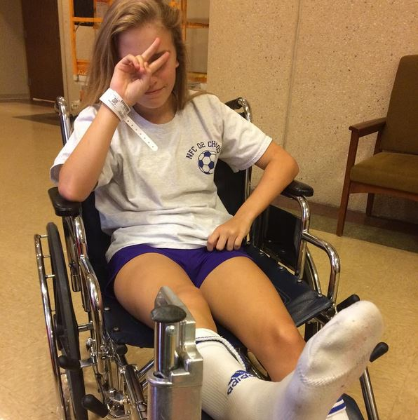 Broken Ankle Soccer Girl