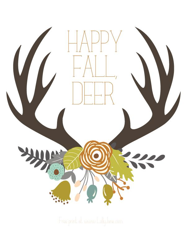 antler happy fall printable
