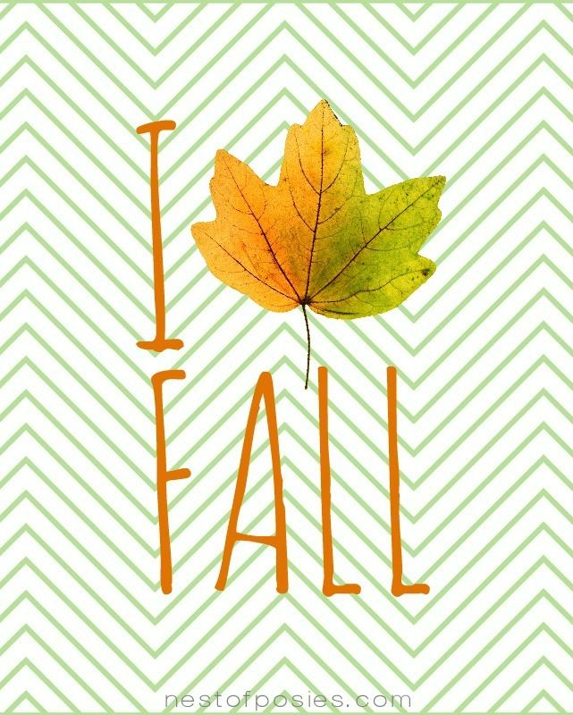 I Love Fall Printable