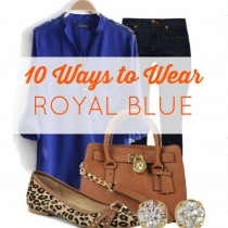 outfit ideas for royal blue