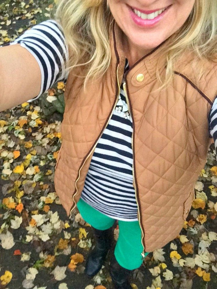 Quilted Vest Outfit Idea