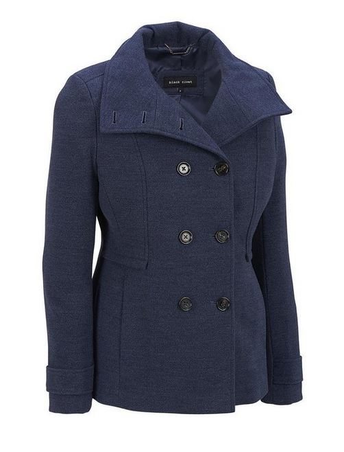 denim blue wool coat