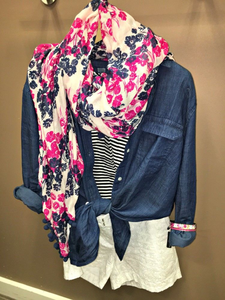 Denim and Floral Inspired Spring Outfit