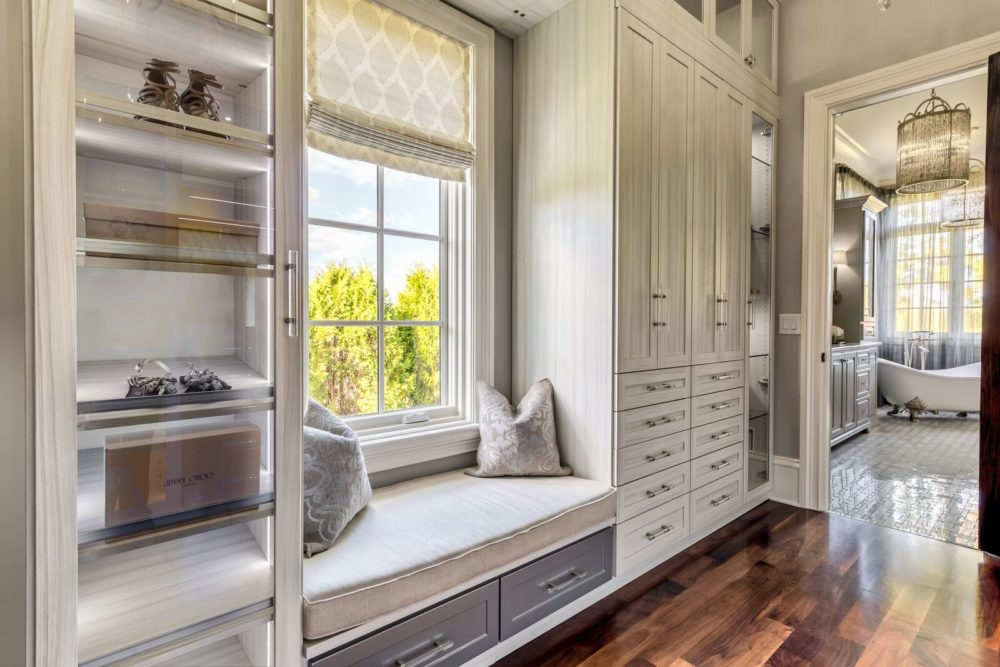 Another Great Shot Of This Gorgeous Walk In Master Suite Closet. I Love  This Seating Area. Oh, And Check Out That Clawfoot Tub In The Background!