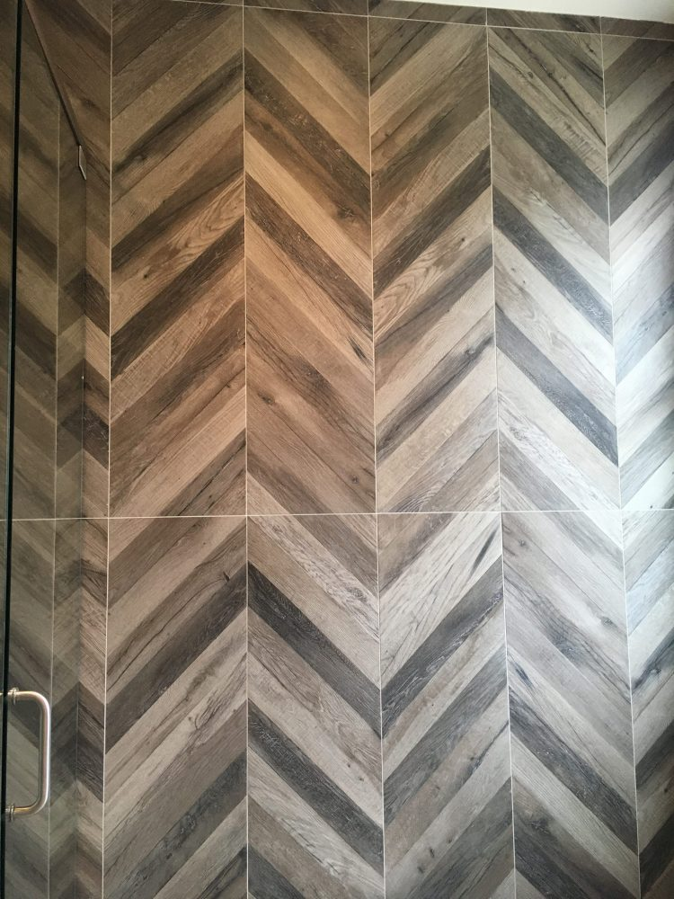 chevron wall idea