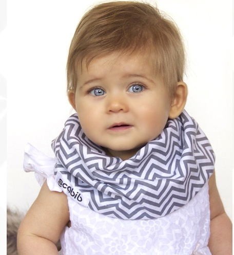 baby in chevron