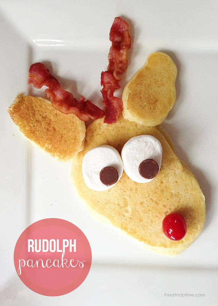 Rudolph pancakes for Christmas