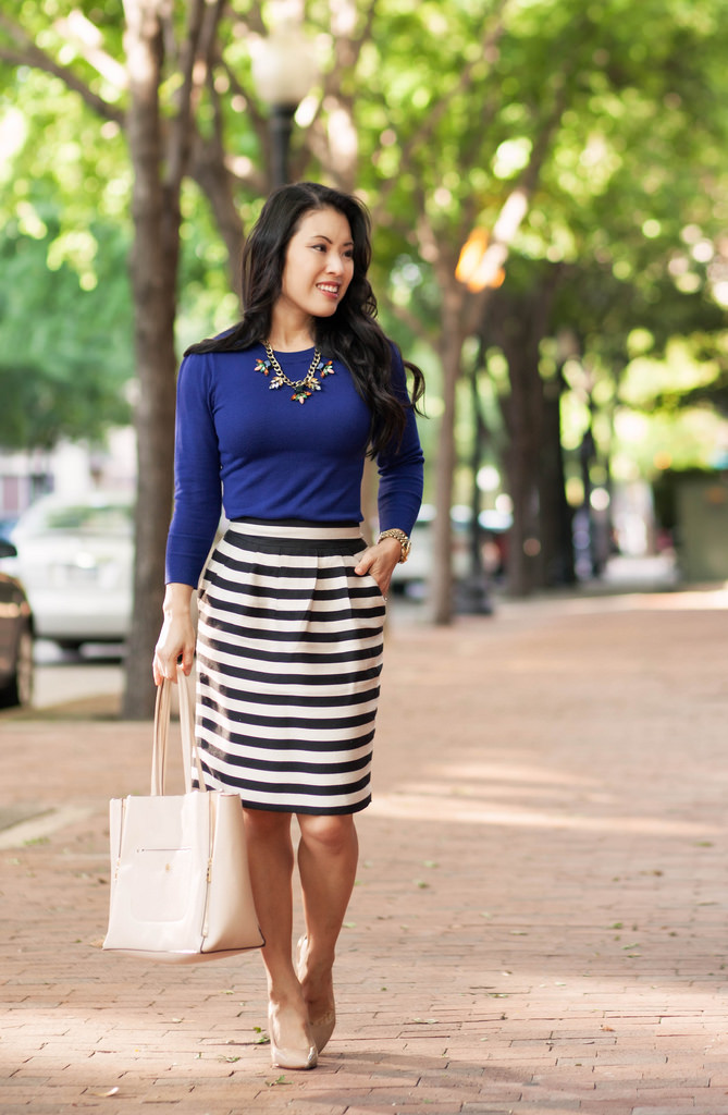 royal blue with stripes outfit