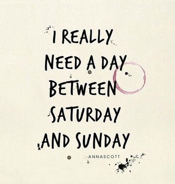 Need a day between Saturday and Sunday