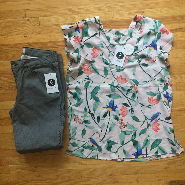 floral top flat lay